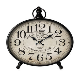 Picture of Oval Metal Tabletop Clock - 12 in.
