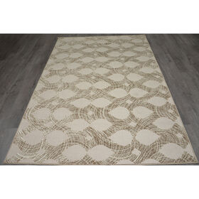 Picture of Tan Cancun Infinity Rug