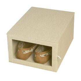 Picture of Drop Front Shoe Box - Linen