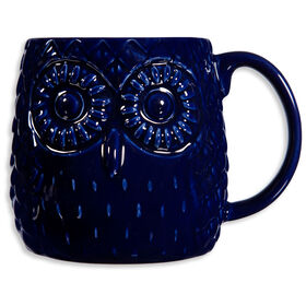 Picture of Cobalt Embossed Owl Mug- 20oz
