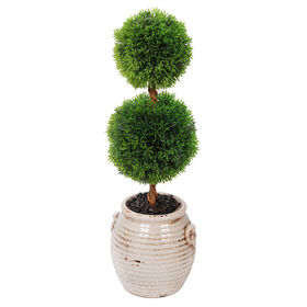 Picture of 20.7 TWO BALL TOPIARY CER POT