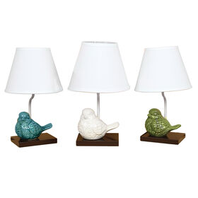 Picture of AL  15 CRACKLE BIRD LAMP 3A