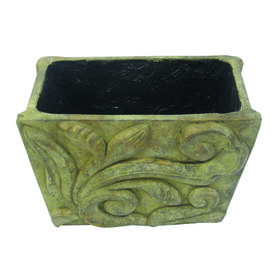 Picture of Terracotta Rectangular Planter- Beige 10-in