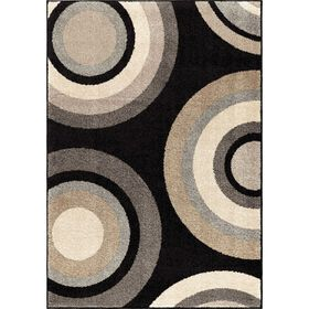 Picture of B372 Black Roundtree Rug- 60x79 in.