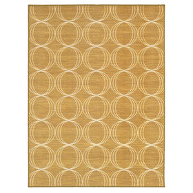 Picture of Monaco Gold Triple Geometric Rug 3 X 5 ft
