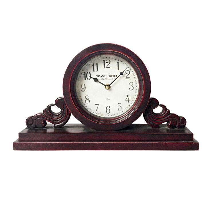 Walnut Wood Mantle Clock - 9 in.