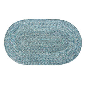 Picture of Blue Braided Oval Accent Rug