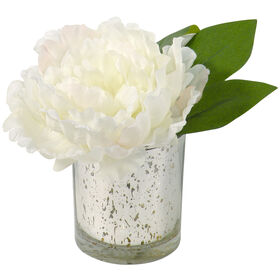 Picture of 6IN PEONY IN MERCURY GLASS