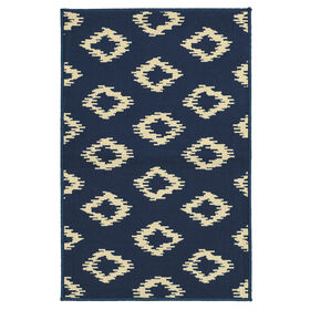 Picture of Dark Blue Diamonds Utility Rug 29 X 45-in
