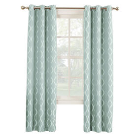 Picture of Tide Banks Pattern Window Curtain Panel 84-in