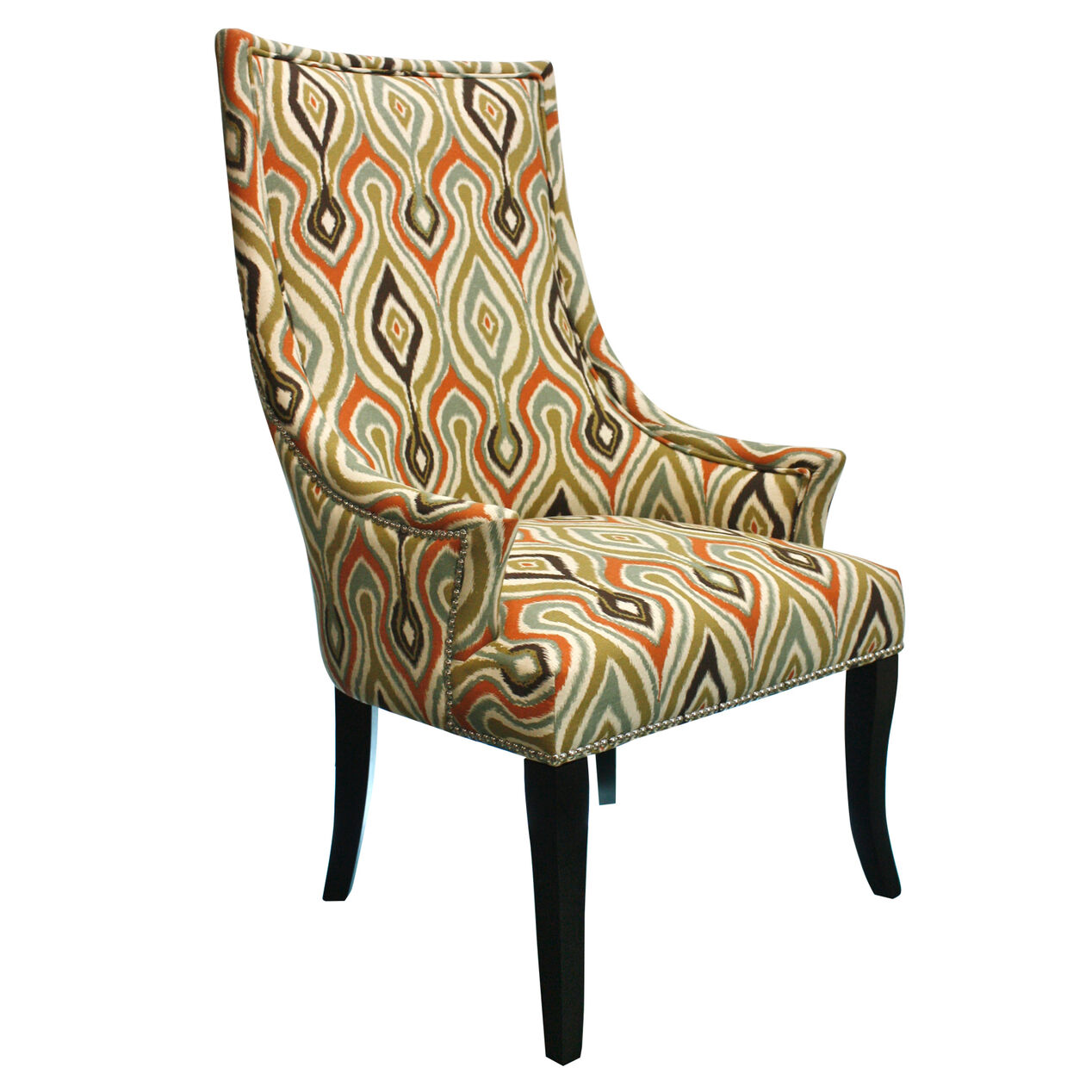 Multicolor Ikat Chatham Upholstered Chair At Home – Upolstered Chair