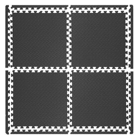 Picture of Black Rubber Tiles- 4 Pack