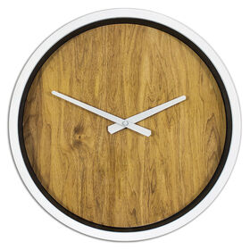 Picture of White Edge Wood Face Clock - 16 in.