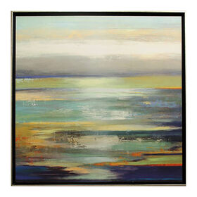 Picture of Evening Tide Coastal Gallery Art- 36x36 in.