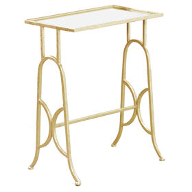 NST Ant Gold Mirror Metal Table Small