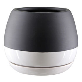 Picture of Ceramic Pot- Black & White 6-in
