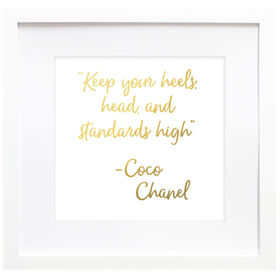 High Standards Chanel Quote Framed Portrait- 18x18 in.