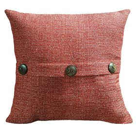 Picture of Fiddlestix Red Square Button Pillow