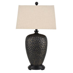 Picture of Bronzed Hammed Tabletop Lamp Base- 23-in
