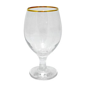 Picture of Impressions 10 oz Gold Rim Goblets - Set of 4