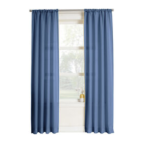 """Picture of Lapis Blue Poly Curtains 84"""""""