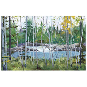 Picture of Oxtongue Rapids Landscape Canvas Art- 36x60 in.