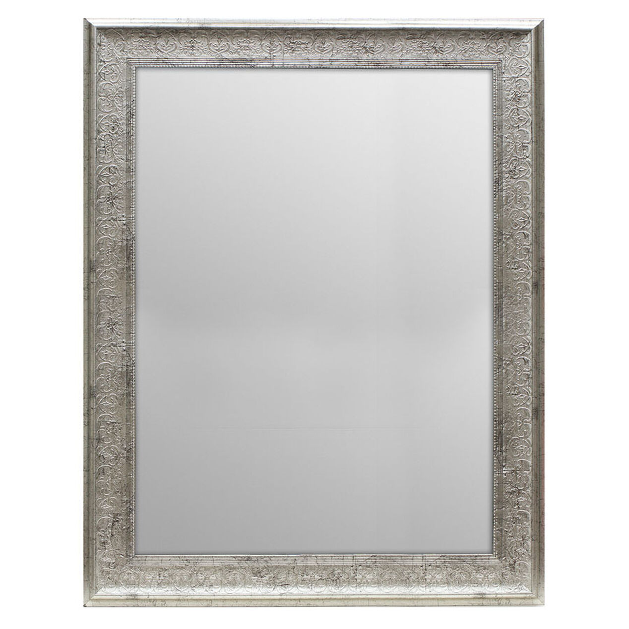 36 x 48 in antique silver ornate lacy mirror at home for Mirror 48 x 36