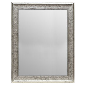 Picture of 36 X 48-in Antique Silver Ornate Lacy Mirror