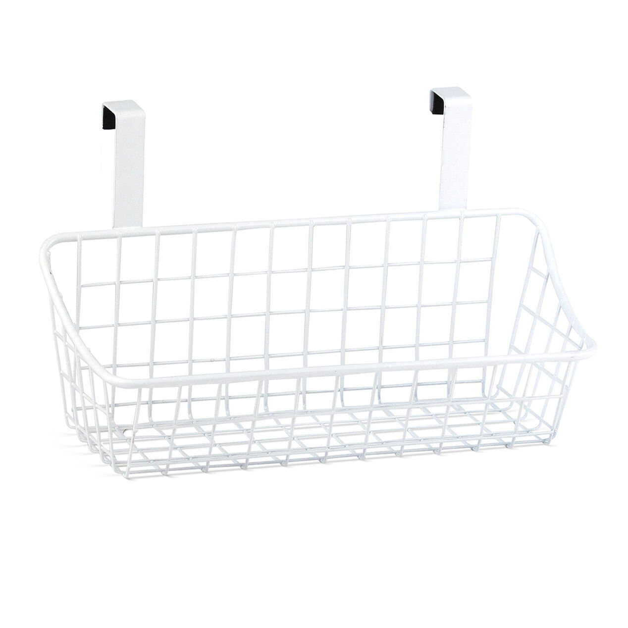 Over The Cabinet Basket Small Over The Cabinet Door Wire Grid Basket White At Home