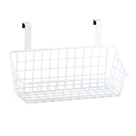 Picture of Small Over-the-Cabinet-Door Wire Grid Basket, White