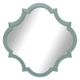 Picture of 14 X 14-in Turquoise Crest Mirror