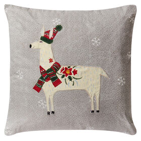 Picture of Llama Christmas Pillow- 18-in