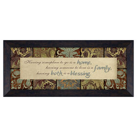 Picture of 7 X 19-in Home and Family Plaque