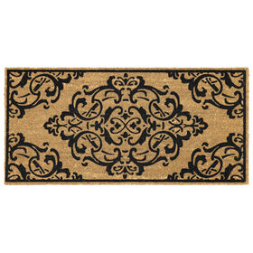 Picture of Intricate Scroll Coir Doormat 22 X 47-in