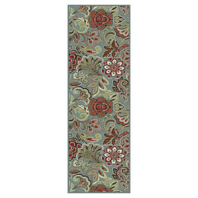 Picture of D248 Turquoise Floral Studio Rug