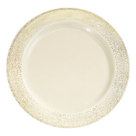 Picture of 7.5-in Misty Gold and Bone Side Plates - set of 10