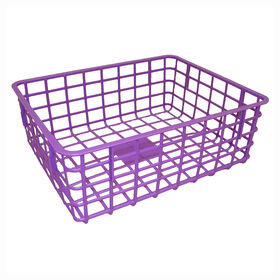 Picture of Rectangular Wire Basket - Purple