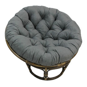 Picture of Grey Suede Papasan Chair Cushion (base and bowl sold separately)