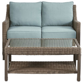 Picture of Laguna 2 Piece Wicker Settee and Coffee Table Set