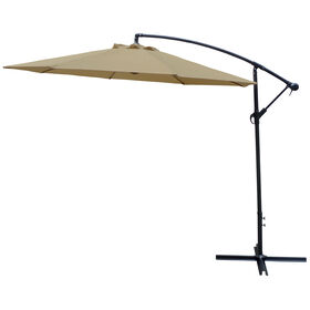 Picture of Offset Neutral Tan Umbrella- 10-ft