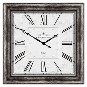 Picture of 40 X 40-in Traditional Silver Roman Numeral Clock with Silver Face