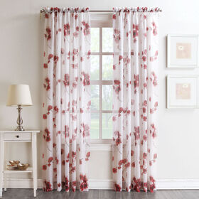 Picture of Coral Kiki Viole Print Window Curtain Panel 84-in