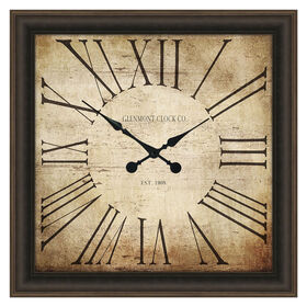 Picture of 40 X 40-in Bronze Antique Face Roman Numeral Clock