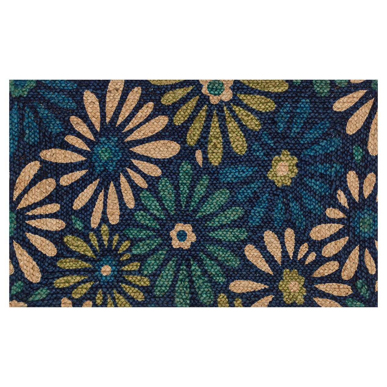 picture of merced blue multi colored rug 27x45 in bohemian style furniture