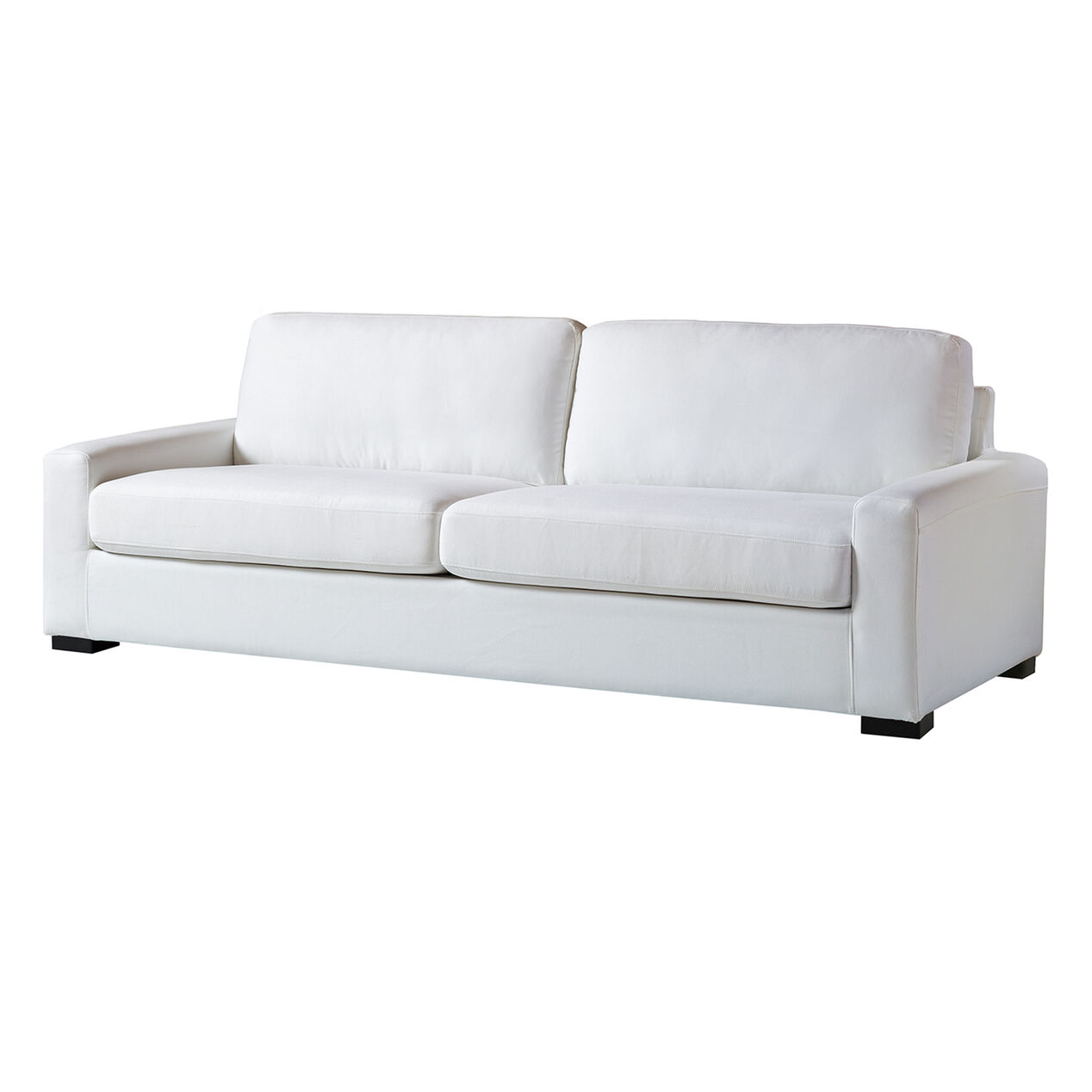 White Malone Slipcover Sofa At Home