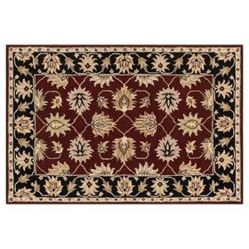 Picture of Red and Black Persian Rug 8 X 10 ft