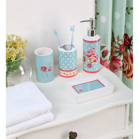 Picture of Polka Dot Floral Bath Set