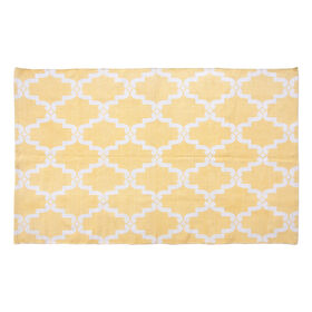 Picture of Yellow Aria Cotton Print Accent Rug 42 X 66-in