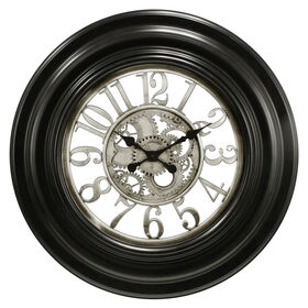 Picture of Black and Silver Gear Wall Clock
