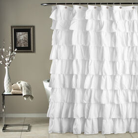 Picture of White Ruffle Show Curtain